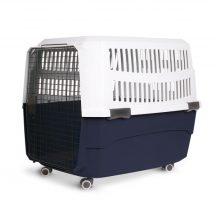 Hordozható, merev falú kisállat szállító szürke/fekete (XL), H81,3xSz56xM58,5cm