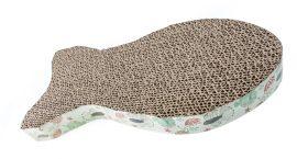 Cicakaparó hullámpapírból. halacska formájú, barna bézs