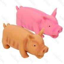 Latex malac formájú kutyajáték, pink, 15cm