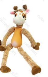 Zsiráf formájú latex-plüss csipogó kutyajáték