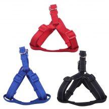 Fényvisszaverős textil hám piros színben, Sz1.5cm x H30-50cm