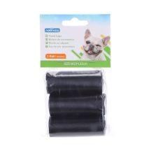 3 db-os kutyapiszok tartó zacskó, fekete 0.008mm vastagságú, 24db/csomag