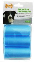 3 db-os kutyapiszok tartó zacskó, kék, 0.008mm vastagságú