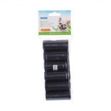 6db-os fekete kutyapiszok felszedő zacskó, 0,008mm vastagságú, 12db/csomag