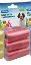 6db-os kutyapiszok felszedő zacskó, rózsaszín, 0,008mm