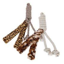 Leopárd mintás plüss kutyajáték, 35cm