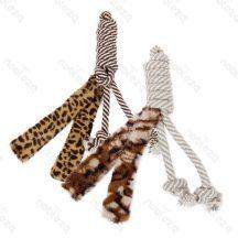 Tigris mintás plüss kutyajáték, 35cm