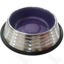 Stainless Steel tál, lila belső, 15.9cm x 3.9cm