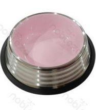 Stainless Steel tál, rózsaszín belső, 15.9cm x 3.9cm