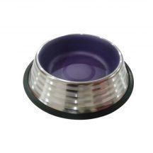 Stainless Steel tál, lila belső, 22.5cm x 5.2cm