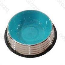 Stainless Steel tál, kék belső, 32.5cm x 7.2cm