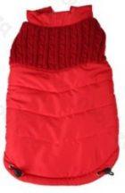 Luxus steppelt bélelt kabát Piros 35cm háthossz