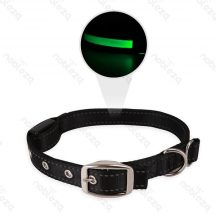 LED-es világító nyakörv fekete 2,5 x 40-80 cm