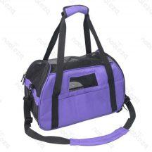 Kutyaszállító táska, lila  48x25x33 cm