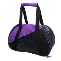 Kutyaszállító táska, lila-fekete 47x24x28 cm