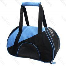 Kutyaszállító táska, kék-fekete 47x24x28 cm