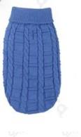 Kék kötött kutyapulcsi, 25 cm háthossz