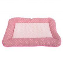 Rózsaszín alapon pöttyös mintás párna fekhely, H55 x Sz36 x M5cm