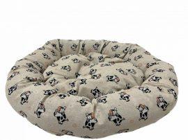 Kerek Tehenes feliratos párnázott fekhely, 55 x 12 cm