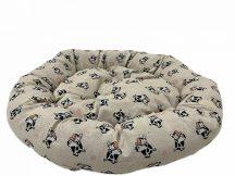 Kerek Paris feliratos párnázott fekhely, 65 x 15 cm