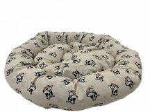 Kerek Paris feliratos párnázott fekhely, 75 x 15 cm
