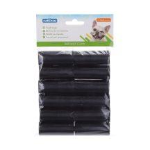 12 db-os kutyapiszok tartó zacskó, fekete, 0.008mm vastagságú