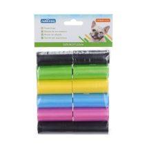 12 db-os kutyapiszok tartó zacskó, színes, 0.008mm vastagságú, 6db/csomag