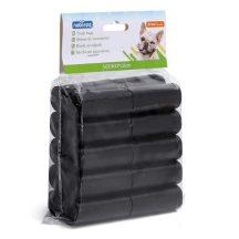 20 db-os kutyapiszok tartó zacskó, fekete, 0.008mm vastagságú