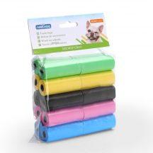 20 db-os kutyapiszok tartó zacskó, színes, 0.008mm vastagságú