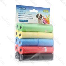 20db-os Kutyapiszok tartó zacskó, színes, 0.008mm vastagságú, 6db/csomag