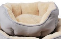 OCTAGONAL párnázott kényelmes kutyafekhely, kékes szürke, 45 x 40 cm
