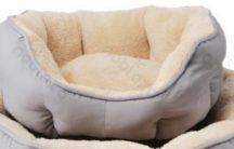 OCTAGONAL párnázott kényelmes kutyafekhely, kékes szürke, 70 x 65 cm
