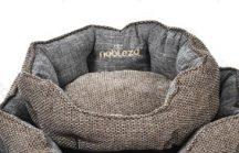 Extra kényelmes,kagyló formájú barna színű kutyafekhely, 45 x 40 cm x 16cm