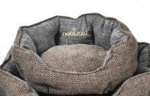 Extra kényelmes,kagyló formájú barna színű kutyafekhely, 57 x 52 cm x 18cm