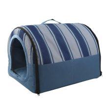 Fekhellyé alakítható beltéri kutyaház, kék színben, 48 x 35 x 40 cm