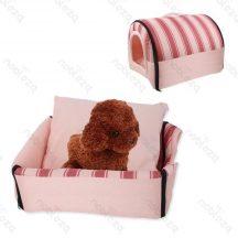 Fekhellyé alakítható beltéri kutyaház, pink színben, 60 x 45 x 50 cm