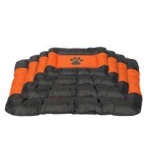 Vízálló kutyafekhely, fekete-narancs színben, 55 x 35 x 5.5 cm
