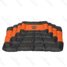 Vízálló kutyafekhely, fekete-narancs színben, 62 x 48 x 6 cm