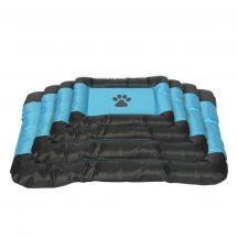 Vízálló kutyafekhely, fekete-kék színben, 46 x 31 x 5 cm