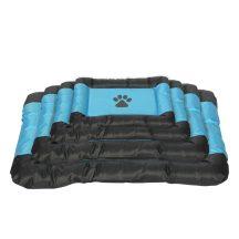 Vízálló kutyafekhely, fekete-kék színben, 62 x 48 x 6 cm