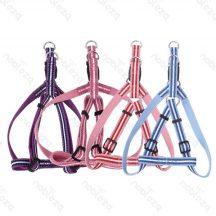 """Rózsaszín kutyahám, mintás textil """"S"""" méret, 1,5cm x 30-45cm"""