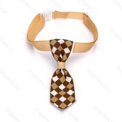 Barna alpon kockás kutyanyekkendő