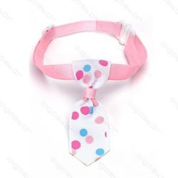 Rózsaszín alpon nagy színes pöttyös kutyanyekkendő