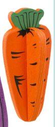Fából készült rágcsáló játék, répa forma 2 db/ csomag